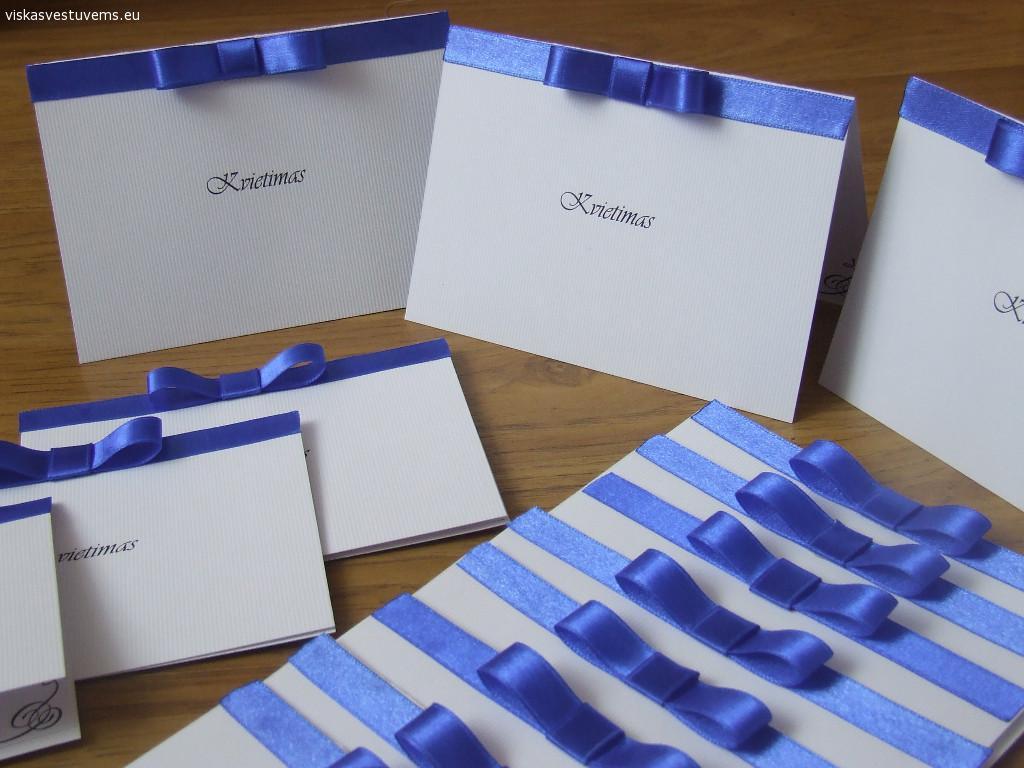 Kvietimai, stalo kortelės, papuošimai šventėms