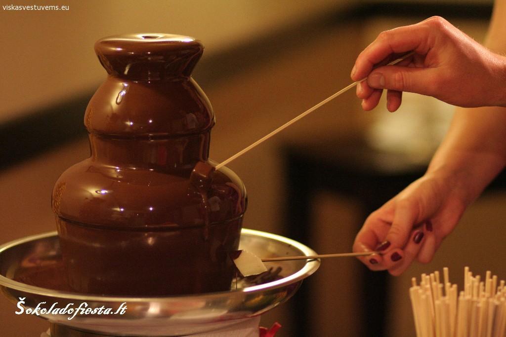 Šokolado fontanų nuoma